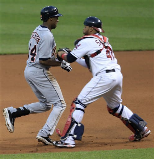 Indians' 4-run rally in 7th tops Tigers 5-3