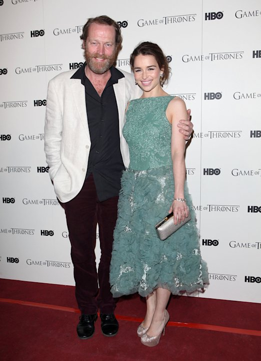 Iain Glen and Emilia Clar …