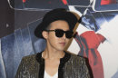 South Korean singer G-Dragon attends a news conference to promote his world concert tour &quot;One of a Kind&quot; in Hong Kong Friday, May 17, 2013. G-Dragon will hold his concert in May 17 and 18 here. (AP Photo)
