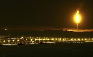 Shaybah oilfield complex is seen at night in the Rub'…