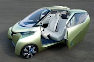 Nissan's PIVO 3 is one of several electric cars the company has on display at the Beijing Auto Show