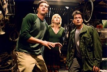 Simon Rex , Anna Faris and Charlie Sheen in Dimension's Scary Movie 3