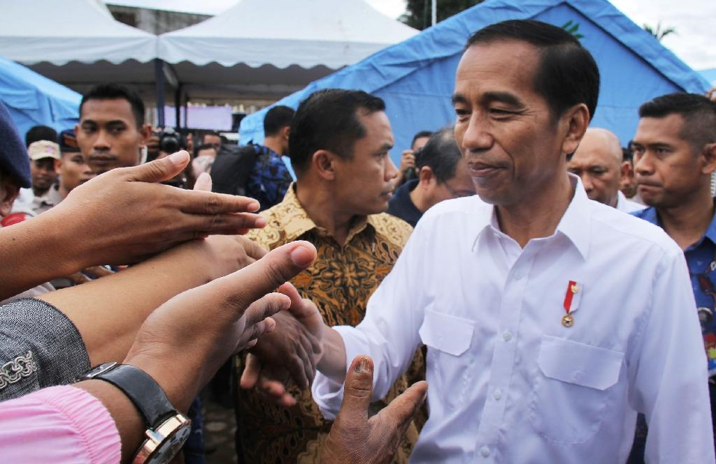 'We will rebuild': Indonesian president tours quake zone