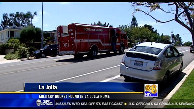 Military rocket found in La Jolla home
