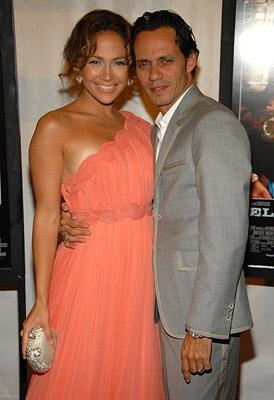 Jennifer Lopez and Marc Anthony at the New York premiere of Picturehouse's El Cantante -7/26/2007 Photo: Kevin Mazur, Wireimage.com