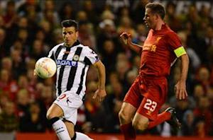 Liverpool 2-3 Udinese: Late Suarez stunner not enough as Reds throw lead away