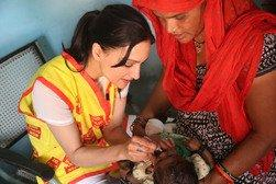 Actress Archie Panjabi signs on with Rotary to eradicate polio