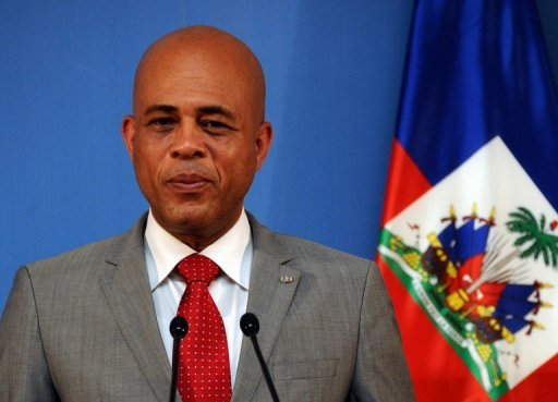 &lt;p&gt;Haiti&#39;s President Michel Martelly gives a press conference in Madrid on July 7, 2011. Martelly made a New Year plea for unity, urging his countrymen to rebuild together their shattered country almost three years after a devastating earthquake.&lt;/p&gt;