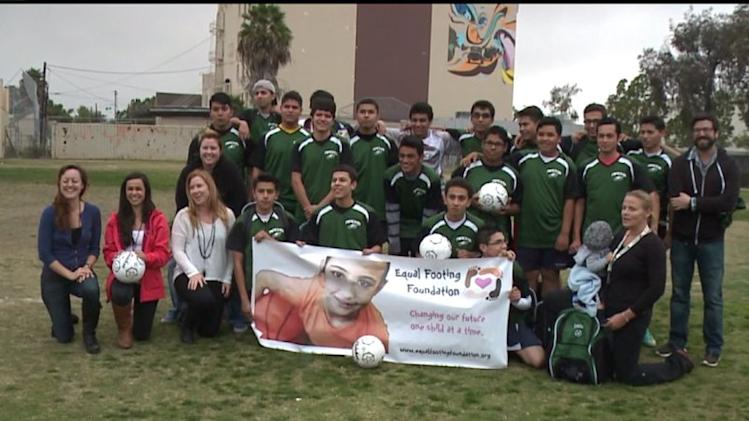 Group Gives Soccer Equipment To Under-Served Team