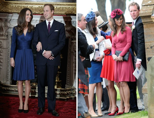Pippa Middleton Attends Wedding Wearing Red Version of Kate&amp;#39;s Issa Engagement Dress