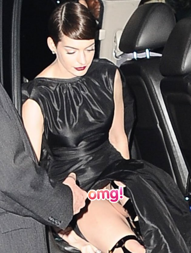 Anne Hathaway puts devastating NO KNICKERS wardrobe malfunction behind