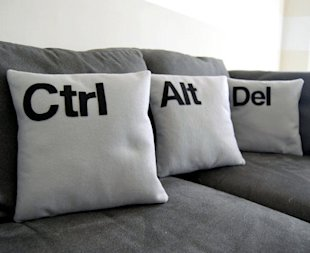 Ctrl + Alt + Del Pillow Covers