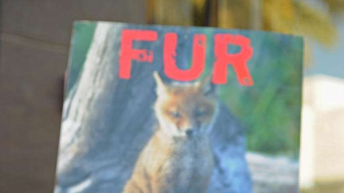 Anti-Fur Activists Urge Shoppers Not To Buy Fur In Beverly Hills