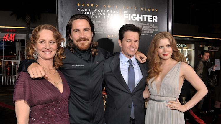 The Fighter LA Premiere 2010 Melissa Leo Christian Bale Mark Wahlberg Amy Adams