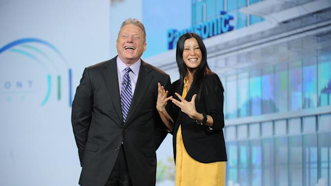 Panasonic North America CEO Joe Taylor and Lisa Ling seen at the International Consumer Electronics Show 2013, on Tuesday, January 8, 2013, Las Vegas, NV during the Panasonic Keynote presentation (Photo by Al Powers/Invision for Panasonic/AP Images)