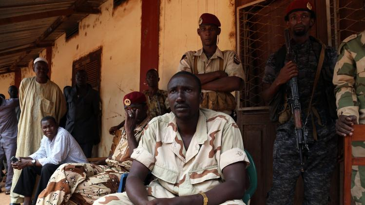 Seleka general Ali Darassa talks to Reuters during an interview at the Seleka headquarters in the town of Bambari