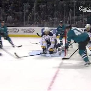 Thomas Hertl scores wraparound on Miller