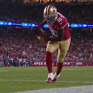 San Francisco 49ers wide receiver Bruce Ellington 8-yard touchdown catch from quarterback Colin Kaepernick