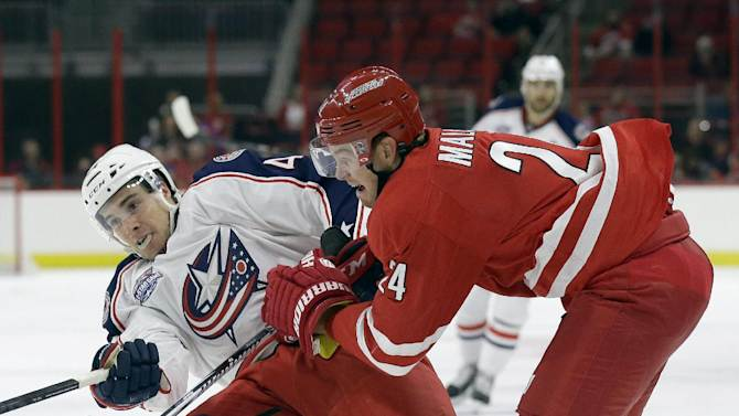 Blue Jackets beat Hurricanes in exhibition opener