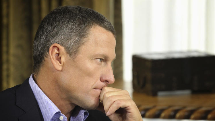 "FILE - In this Monday, Jan. 14, 2013, file photo provided by Harpo Studios Inc., Lance Armstrong listens as he is interviewed by talk show host Oprah Winfrey during taping for the show ""Oprah and Lance Armstrong: The Worldwide Exclusive"" in Austin, Texas. Armstrong confessed to using performance-enhancing drugs to win the Tour de France cycling during the interview that aired Thursday, Jan. 17, reversing more than a decade of denial. (AP Photo/Courtesy of Harpo Studios, Inc., George Burns, File)"