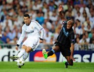 Cristiano Ronaldo, left, scored the winner as Real Madrid beat Manchester City 3-2