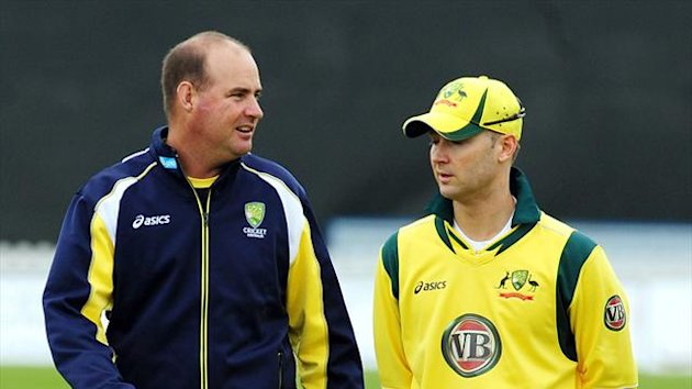 Coach Mickey Arthur, left, and Michael Clarke have 'real hard work' ahead of them