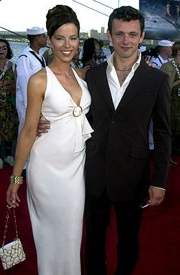 Kate Beckinsale and Michael Sheen aboard the USS John C. Stennis at the Honolulu, Hawaii premiere of Touchstone Pictures' Pearl Harbor