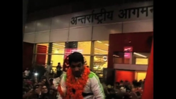 Hero's welcome for Sushil Kumar