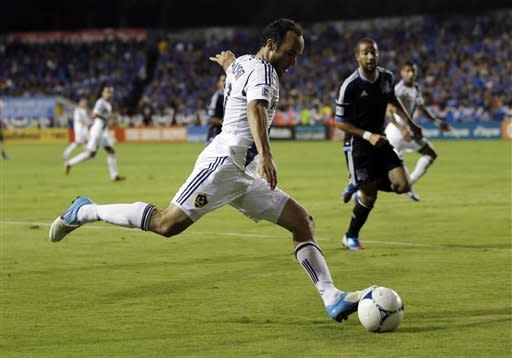 Keane scores twice, Galaxy advance to West finals