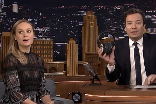 Brie Larson Takes on Jimmy Fallon's 'Tonight Show' Whisper Challenge (Video)
