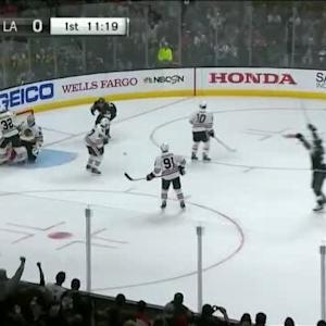 Jeff Carter Goal on Corey Crawford (08:42/1st)
