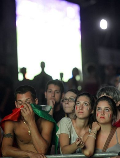 Italian supporters react in&nbsp;&hellip;