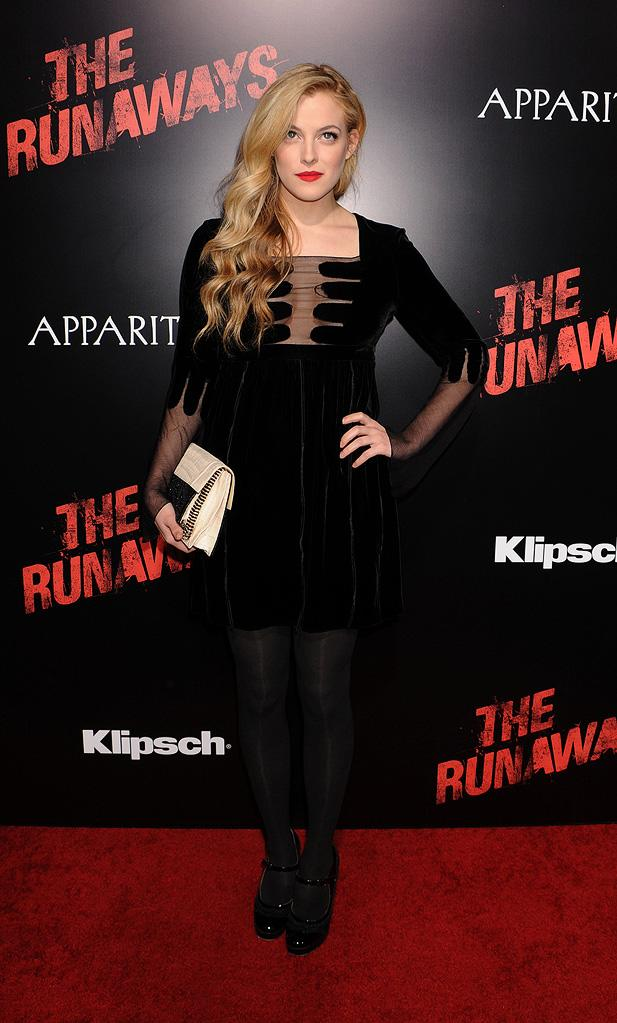 The Runaways LA premiere 2010 Riley Keough