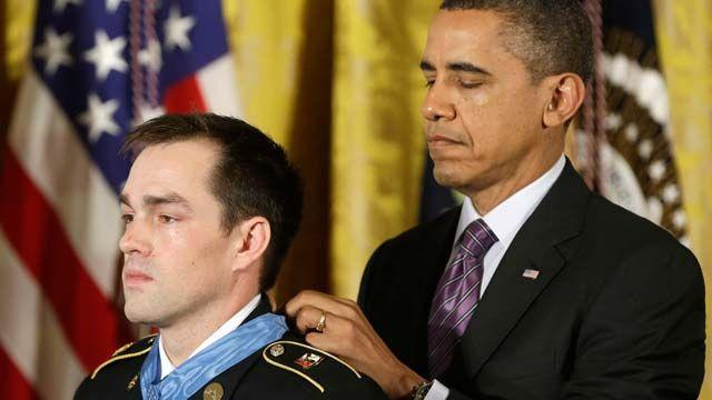 President awards Medal of Honor to hero of Afghan battle