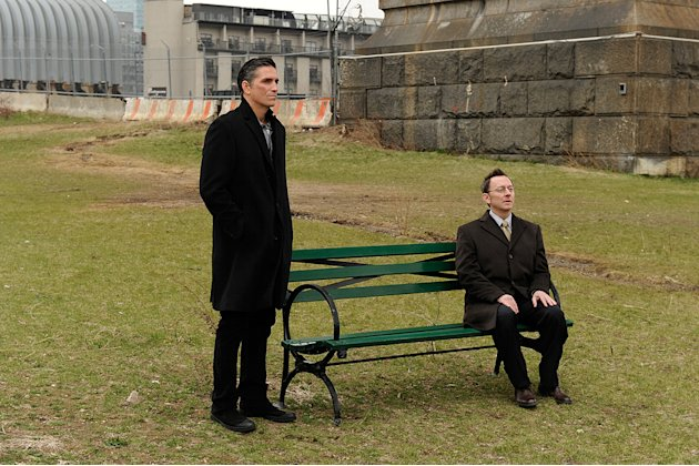 "Jim Caviezel and Michael Emerson in ""Person of Interest."""