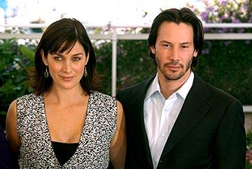 Carrie Anne Moss and Keanu Reeves The Matrix: Reloaded Photo Call Cannes Film Festival 5/15/2003