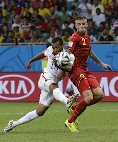 Julian Green's volley in the second period of extra time gave the U.S. hope late on Tuesday. (AP)