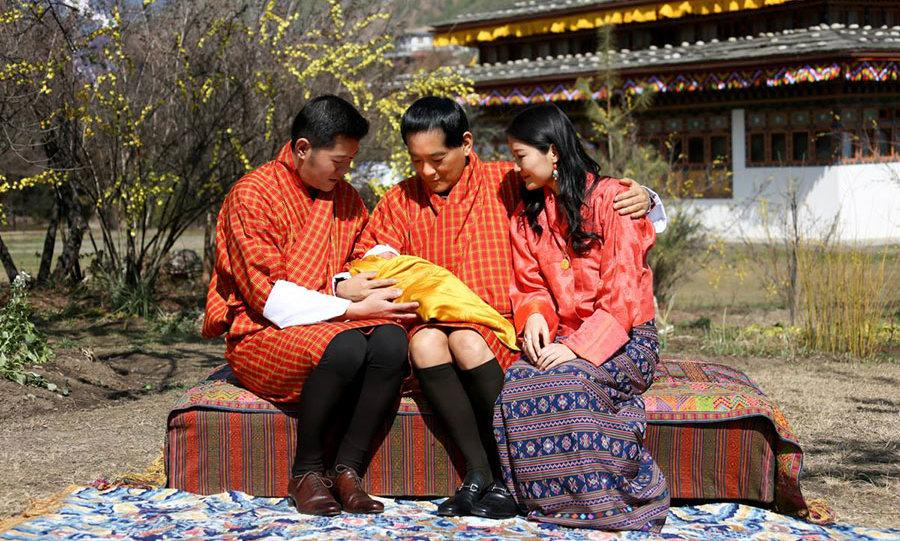 King and Queen of Bhutan share first photo of newborn son