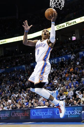 Thunder dominate first half, rout Bobcats 114-69