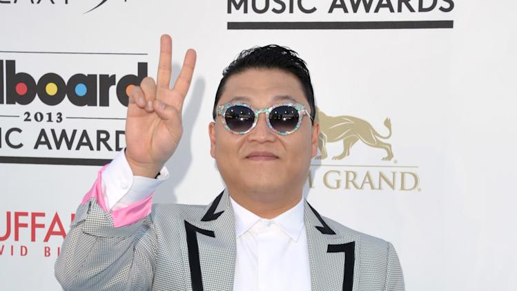 Psy arrives at the Billboard Music Awards at the MGM Grand Garden Arena on Sunday, May 19, 2013 in Las Vegas. (Photo by John Shearer/Invision/AP)