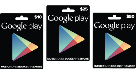 Google Play gift cards now available at RadioShack, Target and GameStop