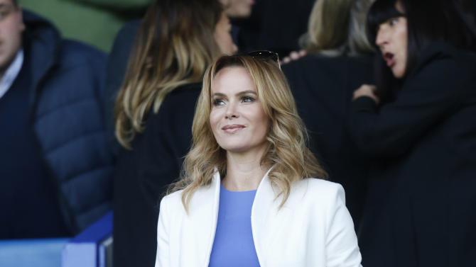 Football: Television presenter Amanda Holden in the stands