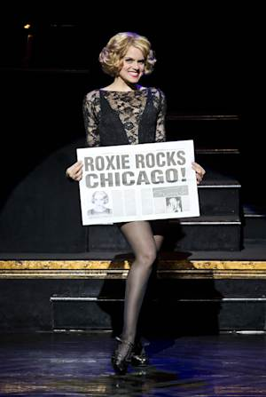"""In this undated publicity photo provided by The Publicity Office, Amy Spanger will star as Roxie Hart when the Broadway musical hit """"CHICAGO"""" plays its record-breaking 6,681st performance at the Ambassador Theatre on Thursday, Dec. 20, 2012, in New York. (AP Photo/The Publicity Office, Jeremy Daniel)"""