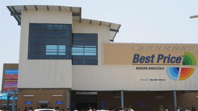 "A Bharti Wal-Mart ""Best Price"" Modern Wholesale cash and carry store in the Manawala, near Amritsar"