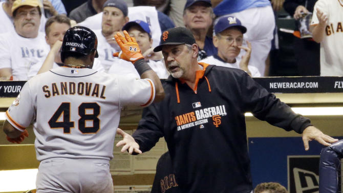 Morse, Giants beat Brewers 7-4