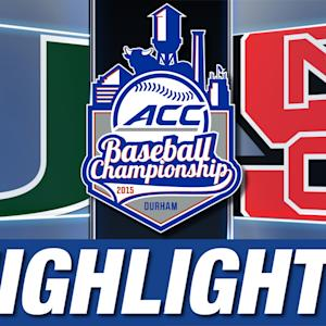 Miami vs NC State | 2015 ACC Baseball Championship Highlights
