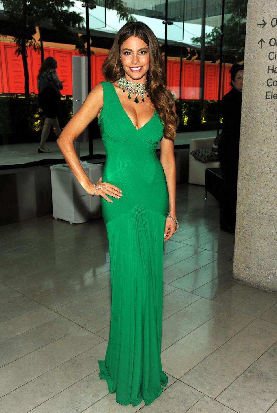 Actress Sofía Vergara attends the 2013 CFDA Fashion Awards at Alice Tully Hall on Monday, June 3, 2013 in New York. (Photo by Evan Agostini/Invision/AP)