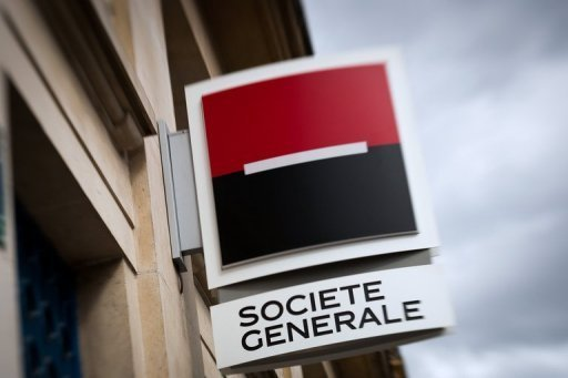 French banking giant Societe Generale on Wednesday posted net profits down 42 percent in the second quarter, hit by writedowns on its TCW investment fund and Russian subsidiary Rosbank