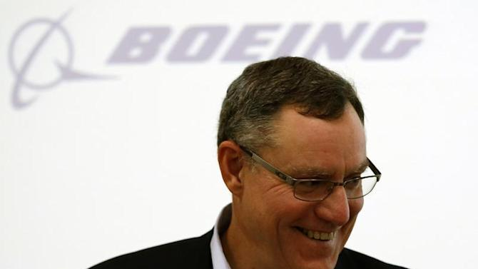 Scott Fancher, Boeing Commercial Airplanes vice president and general manager, head of aircraft development, attends a news conference on their airplane development update in Tokyo
