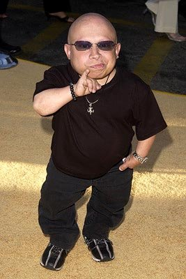 Verne Troyer at the LA premiere of New Line's Austin Powers in Goldmember